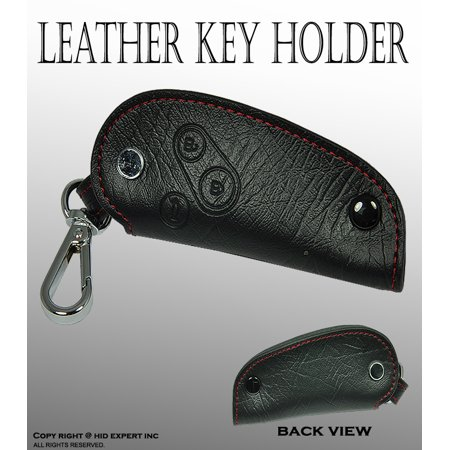 JDM one Black style Fit Honda Vehicle Genuine Leather Cover Key Holder Fob Case