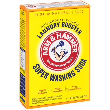 Arm   Hammer  Super Washing Soda Household Cleaner   Detergent Booster 55 Oz  Box