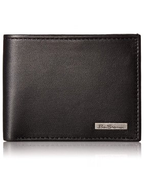 Ben Sherman Mens Brick Lane Genuine Leather Wallet Traveler ID Passcase Bifold