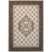 Creative Home Patio Outdoor Area Rugs - 30519-065 Outdoor Beige Bordered Filigree Medallion Rug