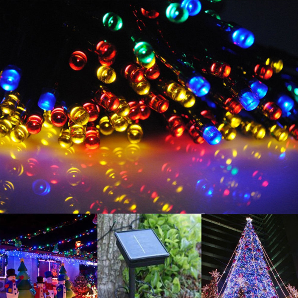 GZYF 22M Multi-color Waterproof 200-LED Solar Powered String Light Xmas Christmas Wedding Party String Fairy Lamps Home Patio Indoor Outdoor Garden Tree Decor