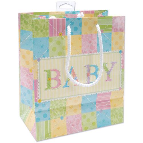 """Cute As A Button Glossy Gift Bag, Print, 9X8X4"""" - 1 Pkg"""