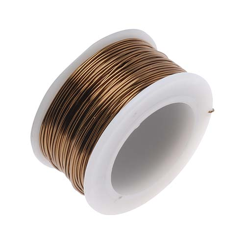 BeadSmith Non-Tarnish Antique Brass Color Craft Wire 24 Gauge - 20 Yards