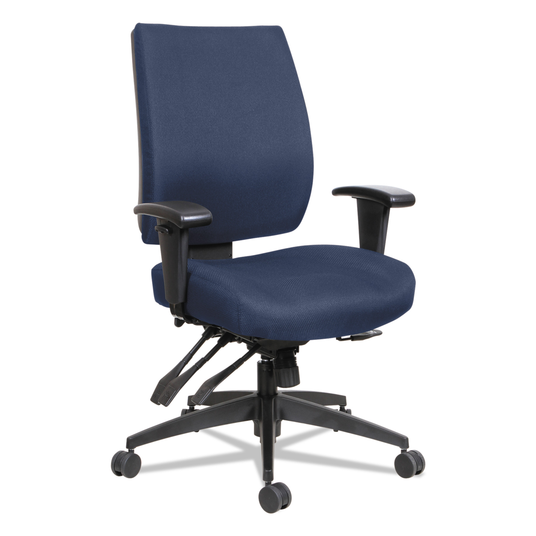 Wrigley Series High Performance Mid-Back Multifunction Task Chair, Blue