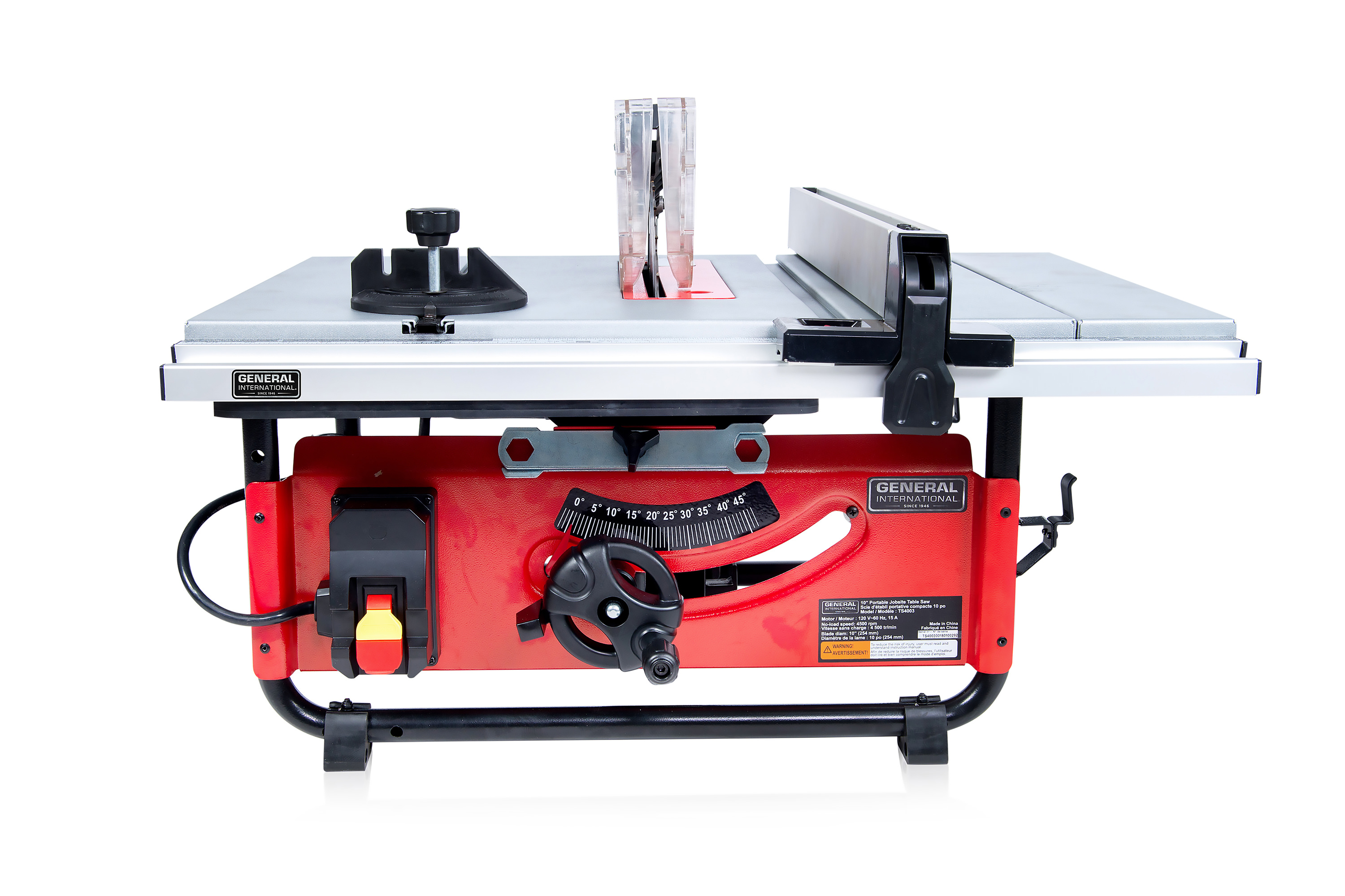 "General International Power Products TS4003 10"" Benchtop Table Saw, Commercial by General International"