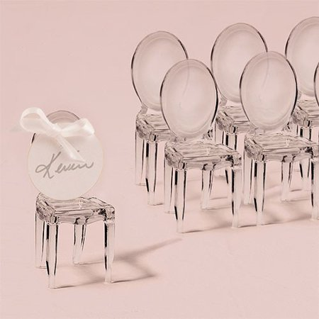 Miniature Clear Acrylic Phantom Chairs Wedding Favor