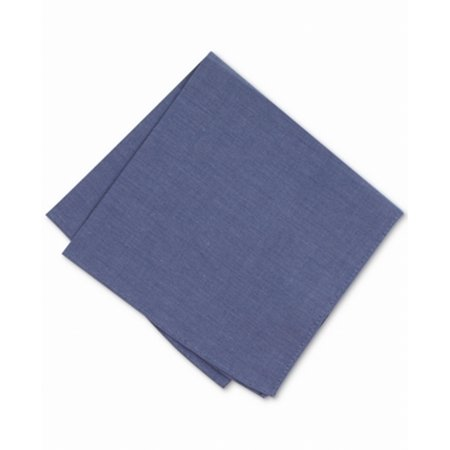 BAR III Denim Chambray Solid Men's Cotton Pocket Square