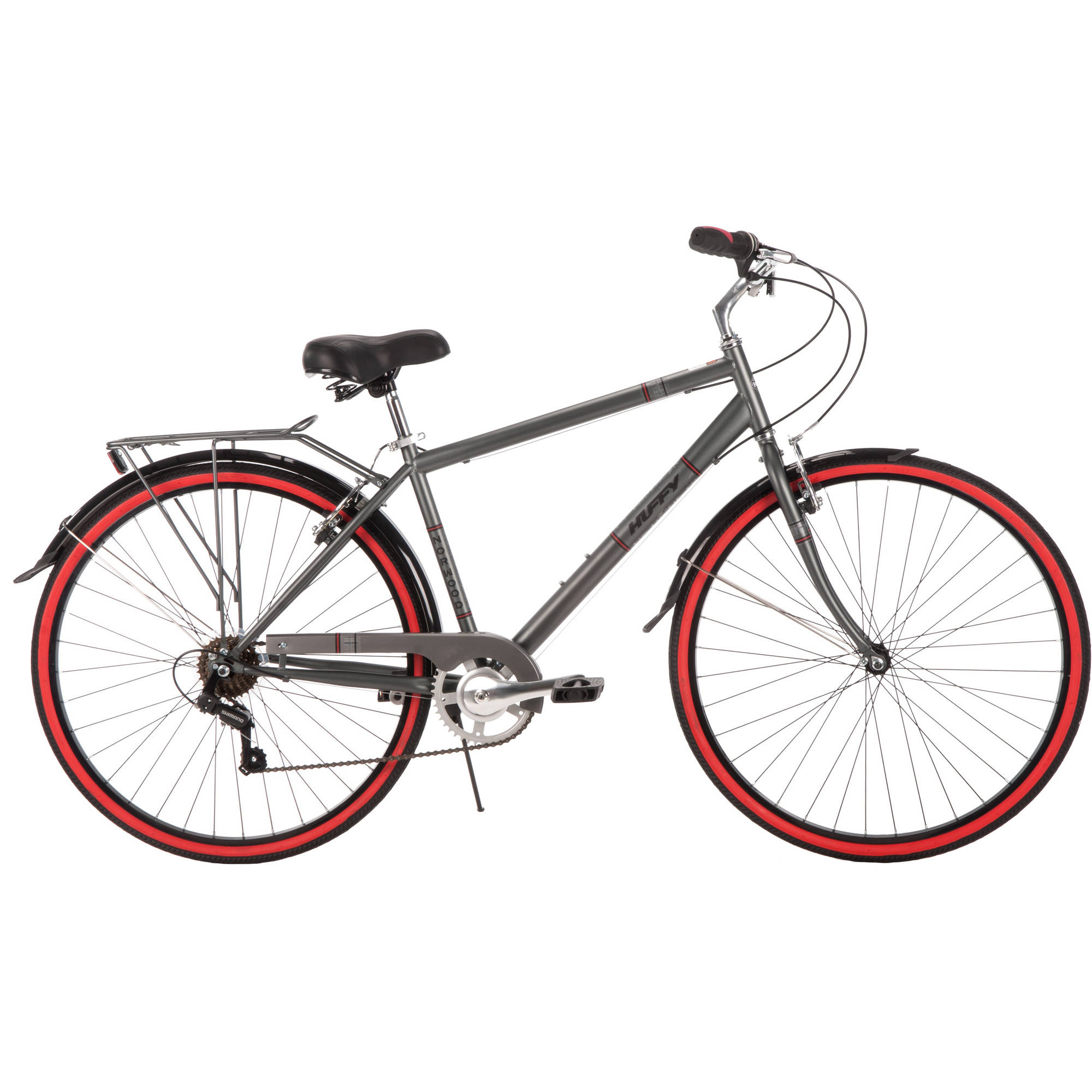 700C Huffy Men's Norwood Cruiser Bike, Grey