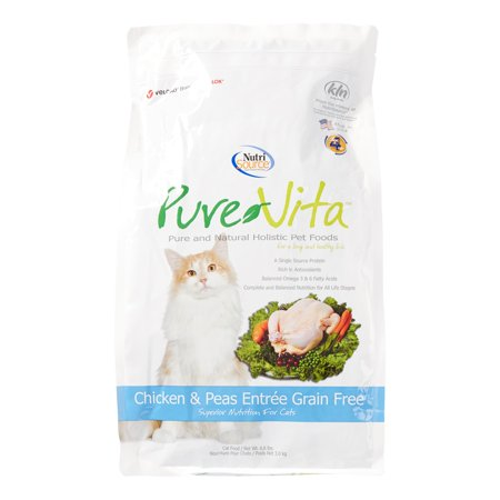 Pure Vita Grain-Free Chicken & Peas Entree Dry Cat Food, 6.6 Lb