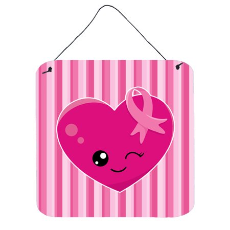 Breast Cancer Awareness Ribbon Heart Wall or Door Hanging Prints BB6982DS66