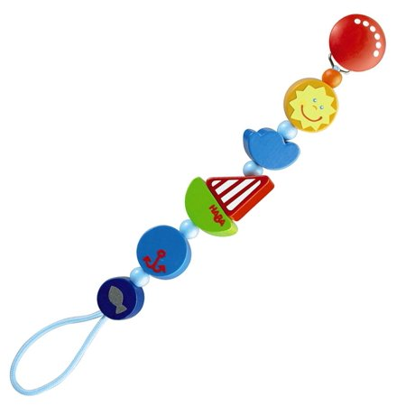 HABA Ship Ahoy Wooden Pacifier Chain - Haba Pacifier Chain