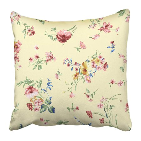 CMFUN Rose Flower Pattern with Anemone Beautiful Dusty Color and Green Leaf with Ground Pillow Case Cushion Cover 18x18 inch