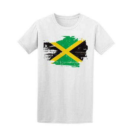 Scratched Jamaican Flag Tee Men