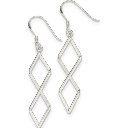 925 Sterling Silver Fancy (10x57mm) Earrings - image 1 of 2