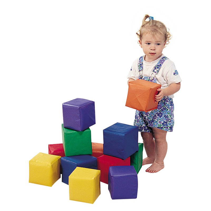 Children's Factory Primary Toddler Baby Blocks - Set of 12