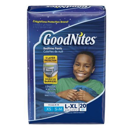 GoodNites Bedtime Bedwetting Underwear For Boys, Size L/XL, 20 Count