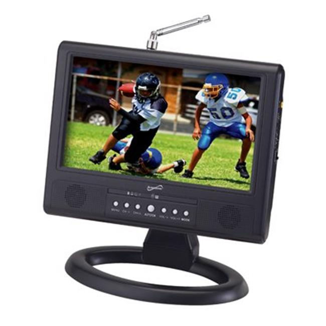 Supersonic SC-499D 9 Inch LCD Portable Digital TV with AC-DC Adapter & Rechargeable Battery