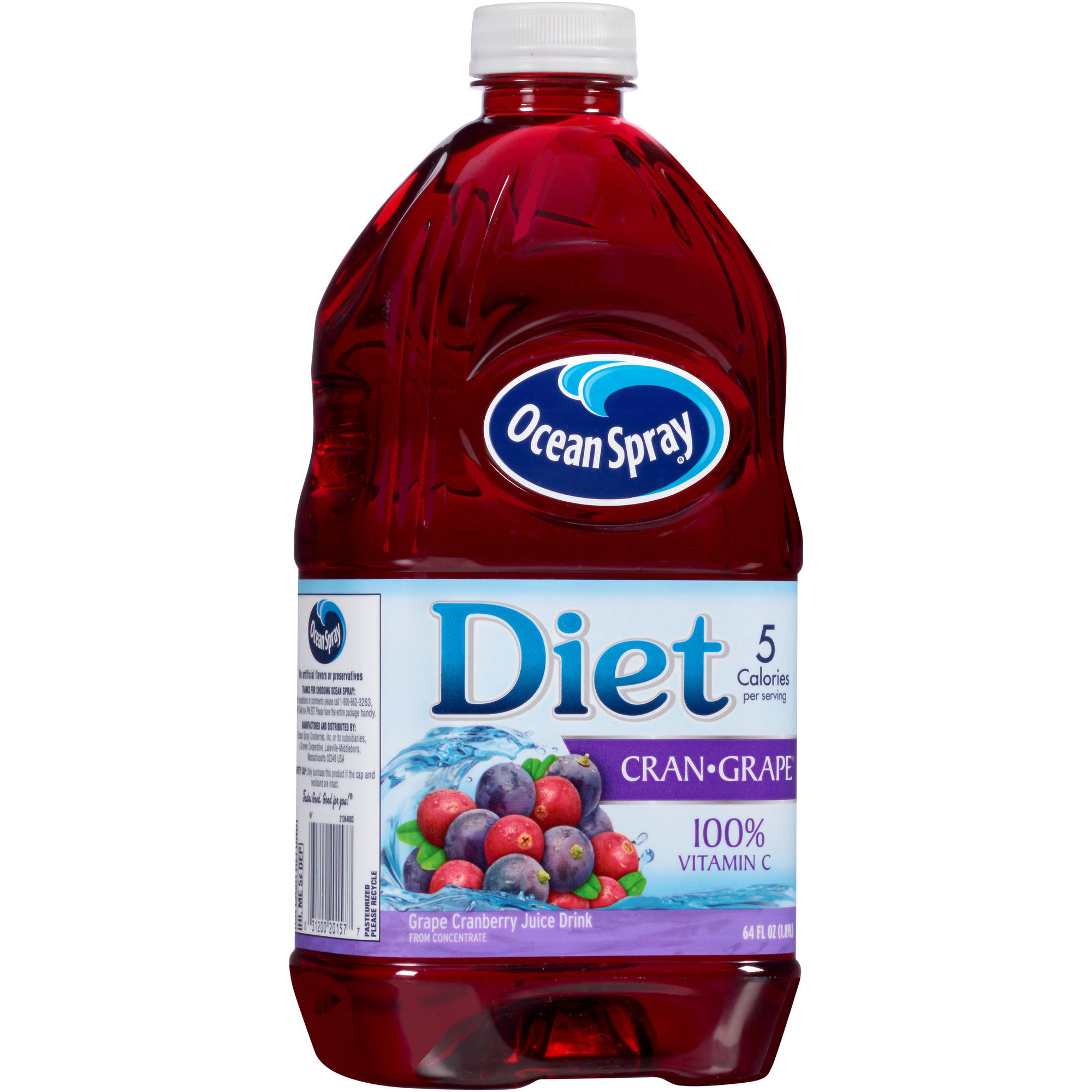 Ocean Spray Diet Cranberry Grape Spray Juice, 64 fl oz