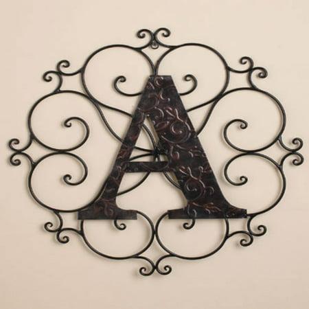- Personalized Metal Embossed Monogram Wall Hanging (W)