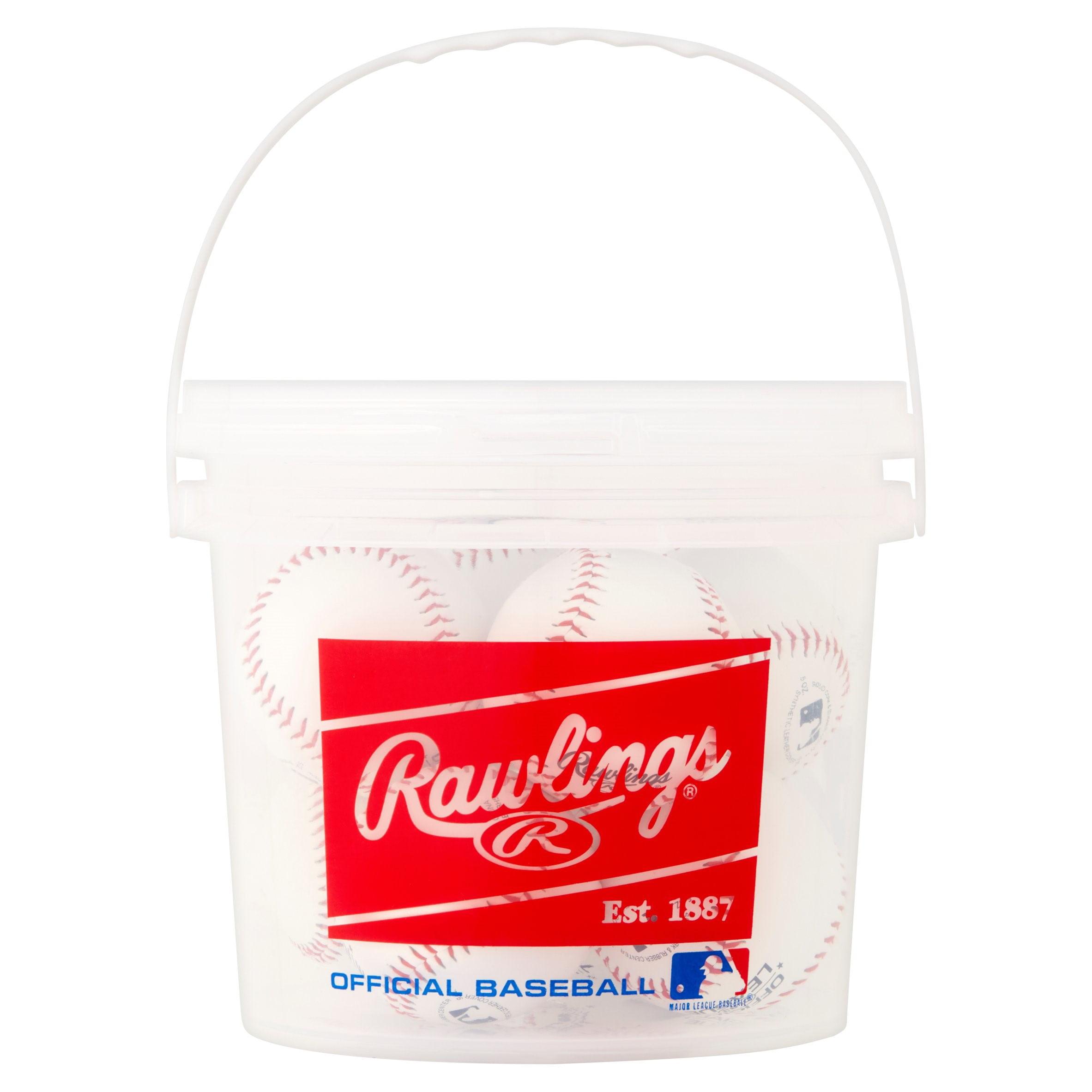 Rawlings 8 Pack Bucket of Baseballs