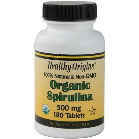 Healthy Origins biologique et casher spiruline comprimés, 180 CT