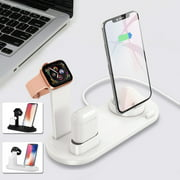 3 In 1 Portable Charger Stand Multi Function Usb Charger Charging Dock Station for Apple Watch Apple Airpods Mobile Phone Accessories