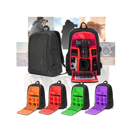 Large DSLR Camera Backpack Shoulder Bags Bag Case Waterproof For Canon For Nikon with Rain Cover