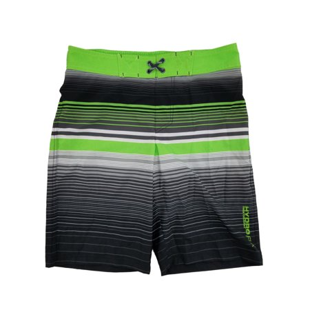 8958a1ef8f Free Country - Boys Green & Gray Stripes Hydro Flx Swim Shorts Swim Trunks  Board Shorts - Walmart.com