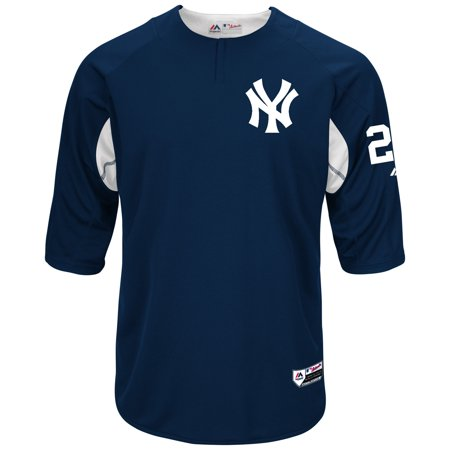 official photos 840f1 bd66b Gary Sanchez New York Yankees Majestic Authentic Collection On-Field  3/4-Sleeve Player Batting Practice Jersey - Navy