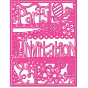 Crafter's Companion Die'sire Create-A-Card Cutting & Embossing Die-Party Invitation