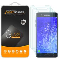 [3-Pack] Supershieldz for Samsung (Galaxy J7 Crown) Tempered Glass Screen Protector, Anti-Scratch, Anti-Fingerprint, Bubble Free