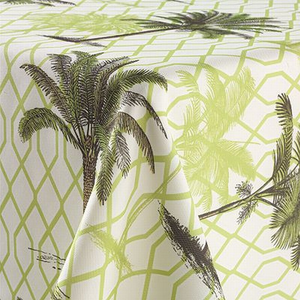 Sonoma Indoor Outdoor Palm Tree Fabric Tablecloth Palmetto 70 Round Table Cloth