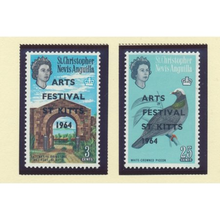 St. Kitts-Nevis Scott #161 To 162 - St. Kitts Art Festival Issue From 1964 - Collectible Postage