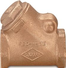 Red-White Y Pattern Swing Check Valve With Low Lead Brass Body, 3/4 In. Fip