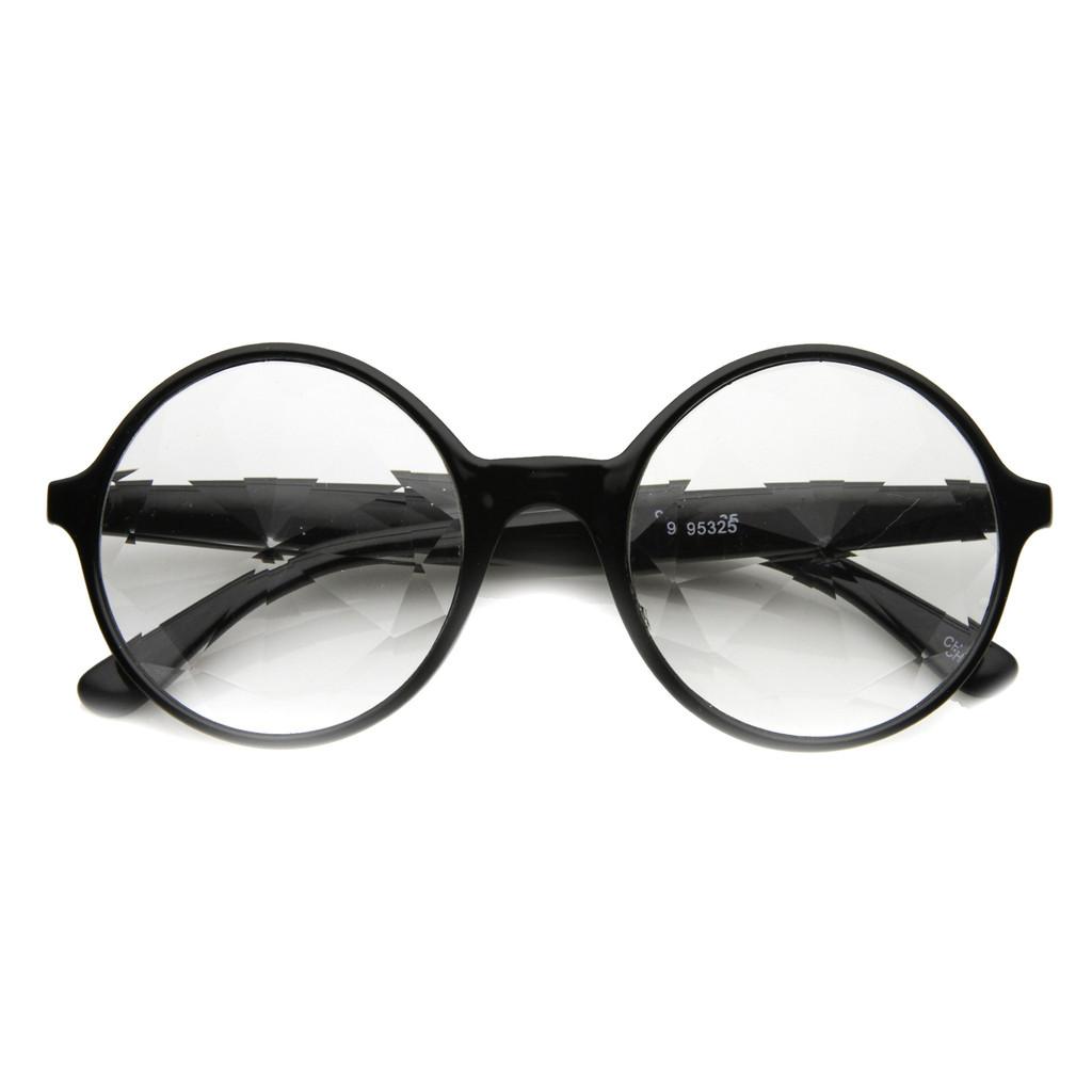 Black Kaleidoscope Clear Lens Glasses Adult Costume  Accessory Lady Gaga - image 1 de 1