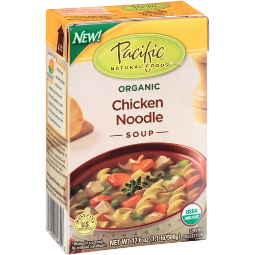 Pacific Natural Foods Organic Chicken Noodle Soup, 17.6 oz, (Pack of 12)