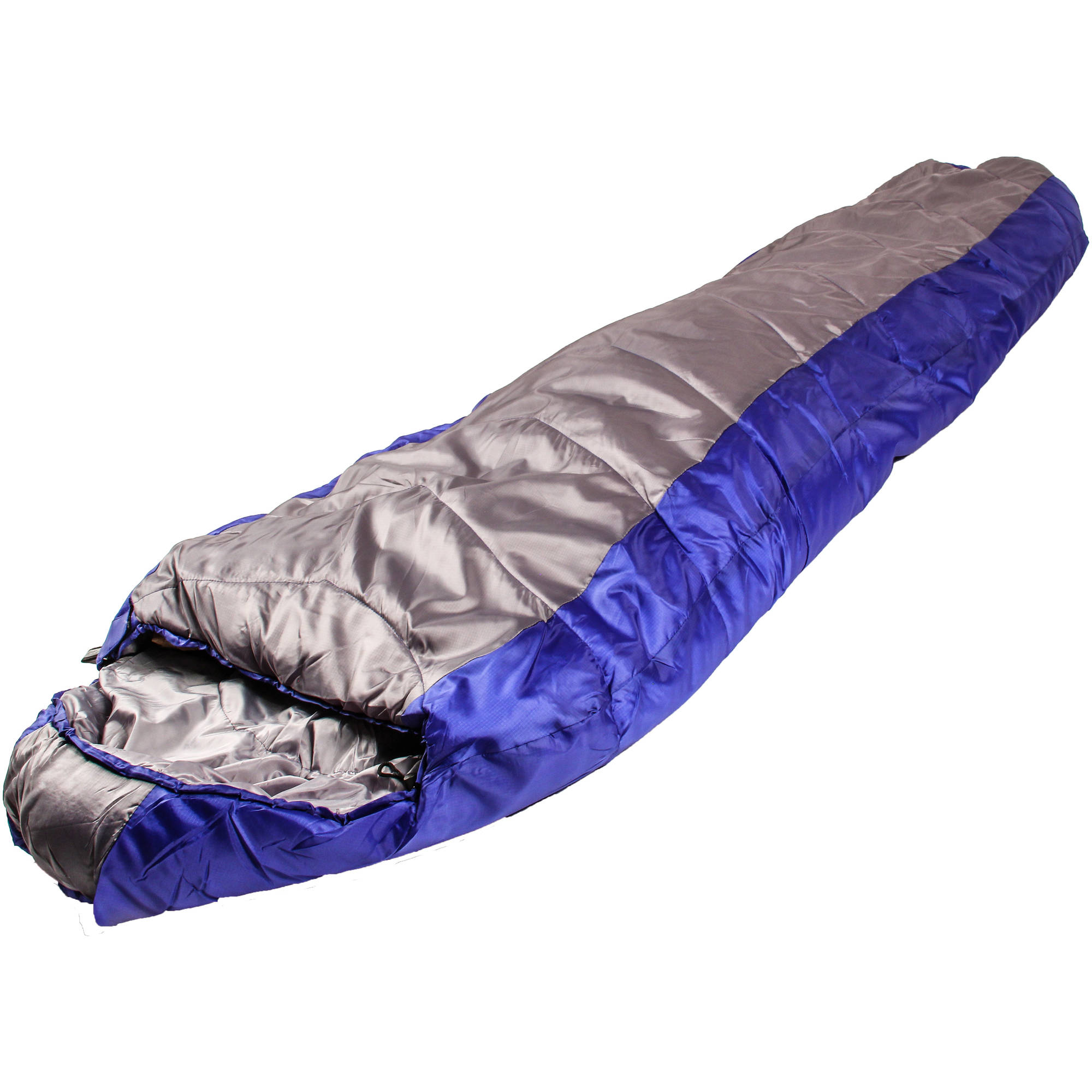 North Star CoreTech 25-Degree Adult Mummy Sleeping Bag, Blue/Gray