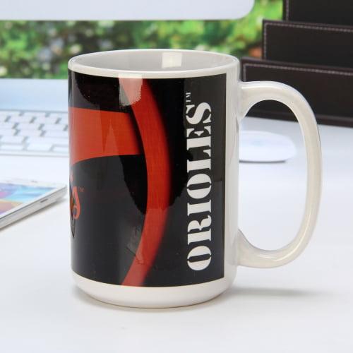 Baltimore Orioles 15oz. Carbon Fiber Ceramic Mug - White - No Size