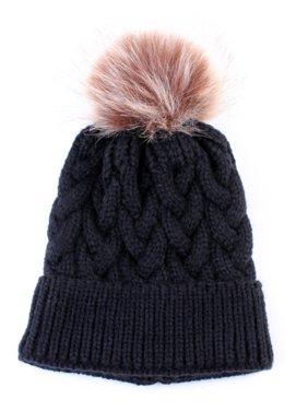 Newborn Baby Girls Boys Winter Knitted Beanie Cap Kids Warm Pom Pom Hat