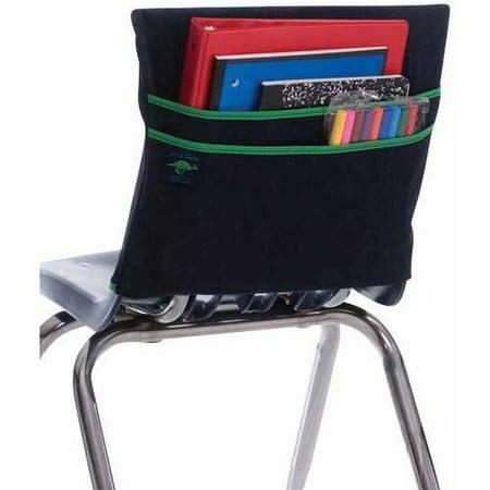 Denim Pocket Designs - Aussie Pouch Chair Pocket with Double Pocket Design, Multiple Sizes, Denim with Green Trim