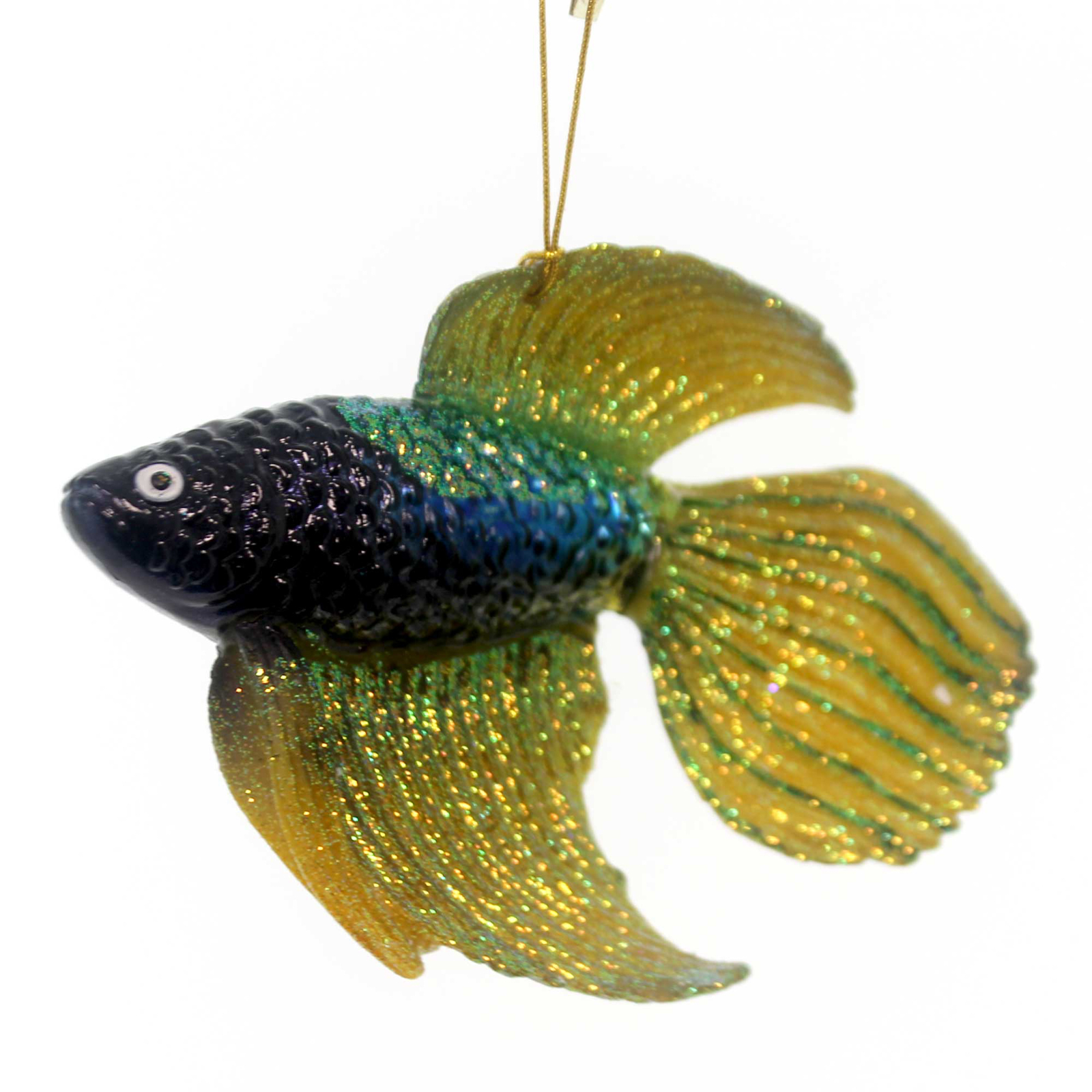 Noble Gems BETA FISH ORNAMENT Glass Hand Crafted Nb1114 Yellow