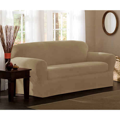 Maytex Stretch Reeves 2 Piece Sofa Furniture Cover Slipcover