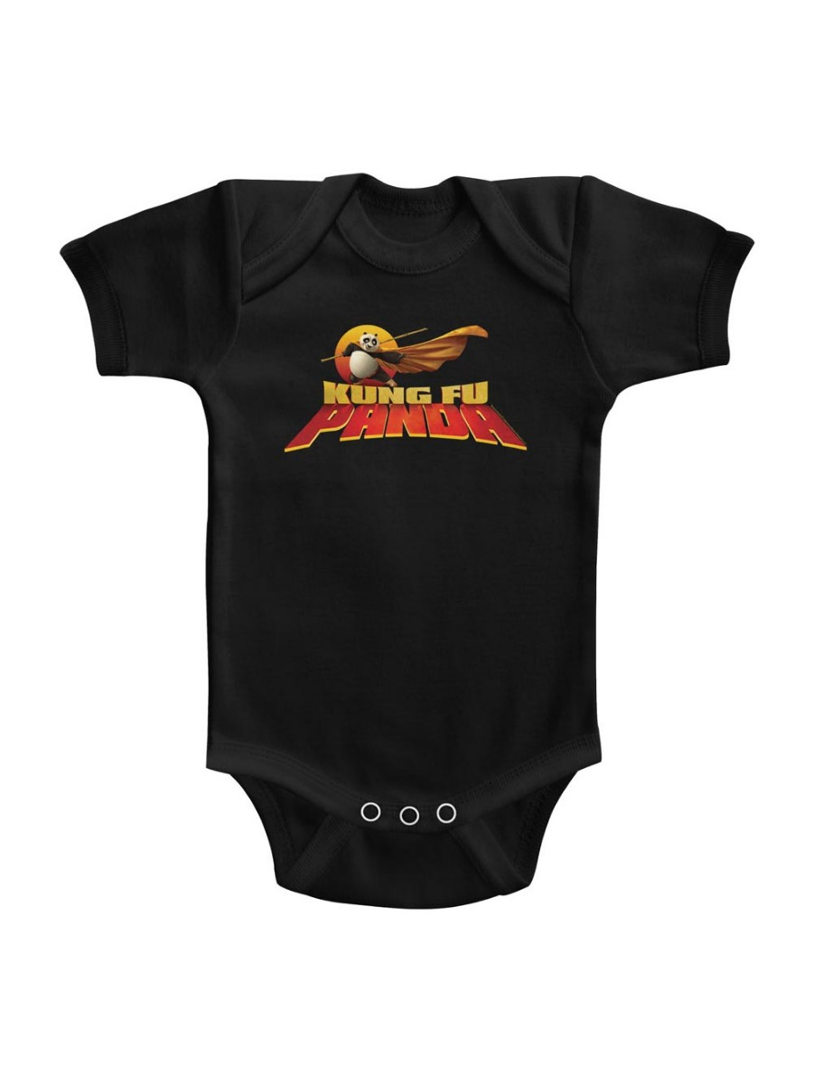Kung Fu Panda Movie Cape Flare Logo Solid Infant Baby Romper Creeper Snapsuit