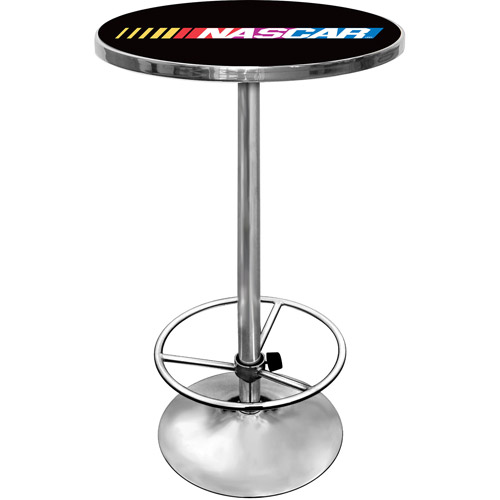 "Trademark NASCAR 42"" Pub Table, Chrome"