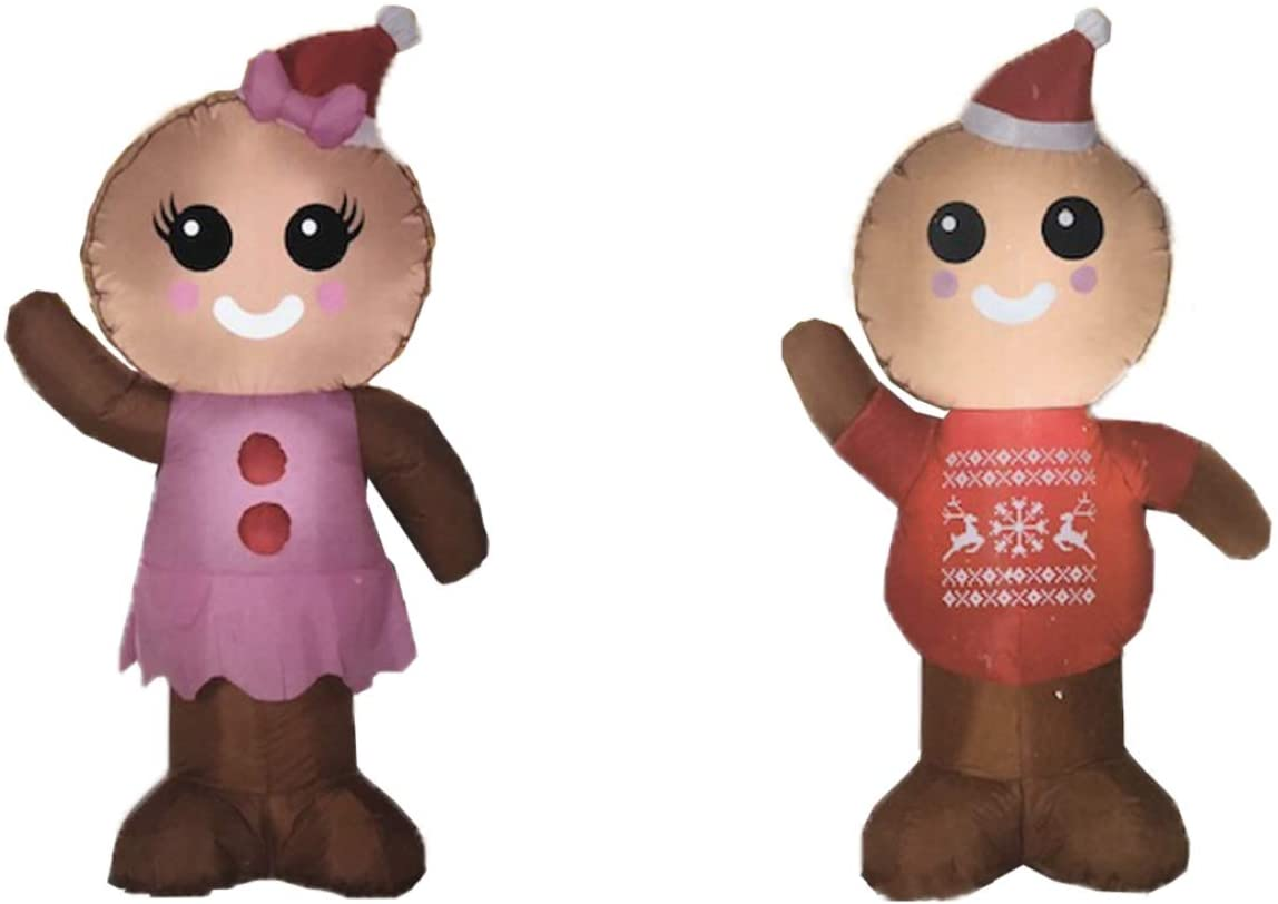 Christmas Inflatable Gingerbread Boy And Girl The Perfect Couple To Celebrate The Holiday Season Great For Indoor Or Outdoor Decorations Walmart Com Walmart Com