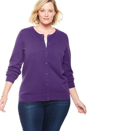 Plus Size Elbow-length Sleeve Perfect - Berry Cardigan
