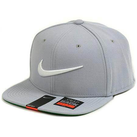 7131dabc660 Nike - Nike Mens Pro Swoosh Classic Snapback Hat Wolf Grey White 639534 014  - Walmart.com