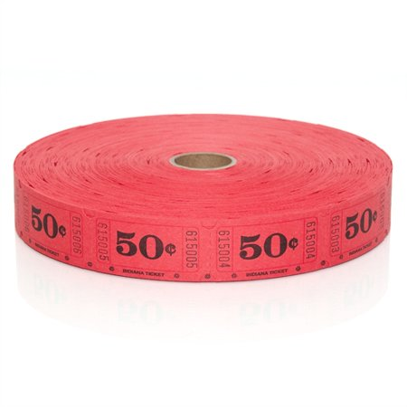 - Roll Tickets - 50 Cent Red - 2000 per roll