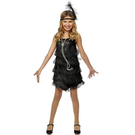 Black Flapper Child Costume