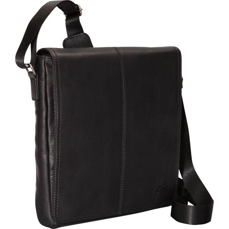 Mancini Leather Goods Colombian Leather Messenger Bag for Tablet/ E-reader